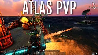 SAILING OUR 1st BOAT and PVP w/ BASE BUILD - Atlas Gameplay