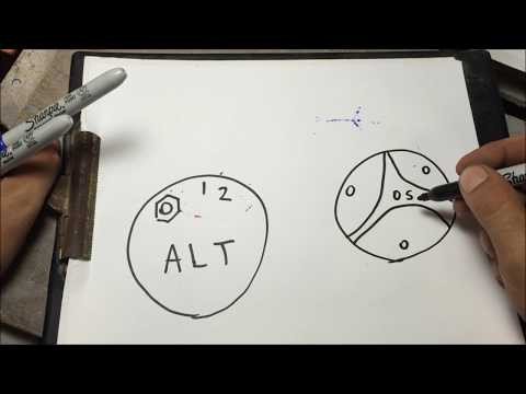 gm 3 wire internally regulated alternator hook up how to