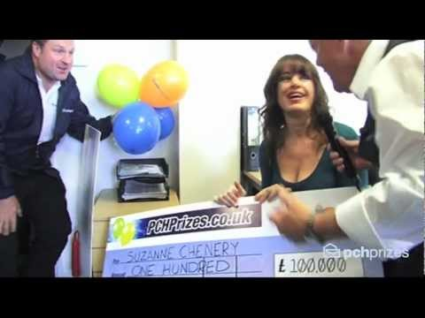Watch Cheggers present the PCH Prizes £100k winning cheque