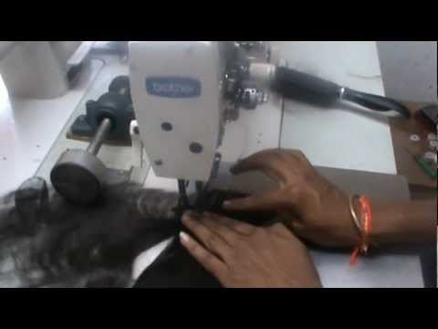 How we make machine weft hair extensions