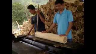 bóc gỗ keo