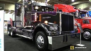 "2015 Western Star 4900 SF 68"" Low Roof Tractor Truck with Detroit DD16 15.6L 600hp Eng - Walkaround"