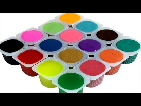 Learn Colors With Yogurt Surprise Silly Putty Vs Clay Slim Vs Kinetic Sand Vs PlayDoh Nursery Rhymes