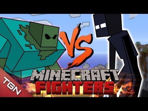 MINECRAFT FIGHTERS: MUTANT ZOMBIE VS MUTANT ENDERMAN G1