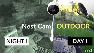 Nest Cam OUTDOOR - Night Vision Test (TIMELAPSE 1080P)