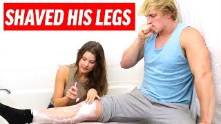 HOW TO SHAVE!!! | Amanda Cerny & Logan Paul