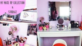 My Makeup Collection & Storage ♡
