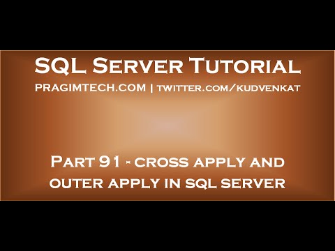 Cross apply and outer apply in sql server