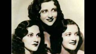Boswell Sisters - Roll on, Mississippi, Roll On