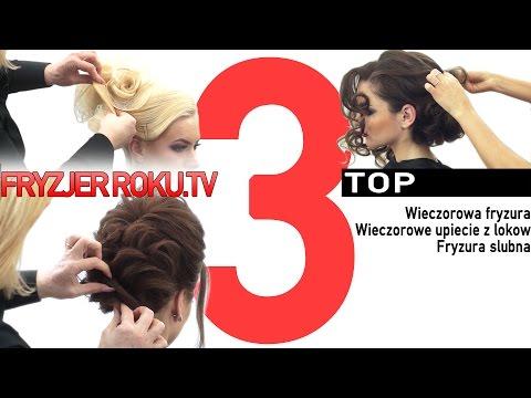 Wieczorowa Fryzura. Wieczorowe Upiecie Z Lokow. Fryzura Slubna FryzjerRoku.TV