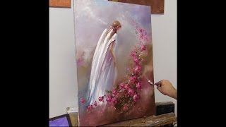 Девушка с крыльями. Урок живописи маслом. Workshop oil painting from Oleg Buiko. Alla prima painting