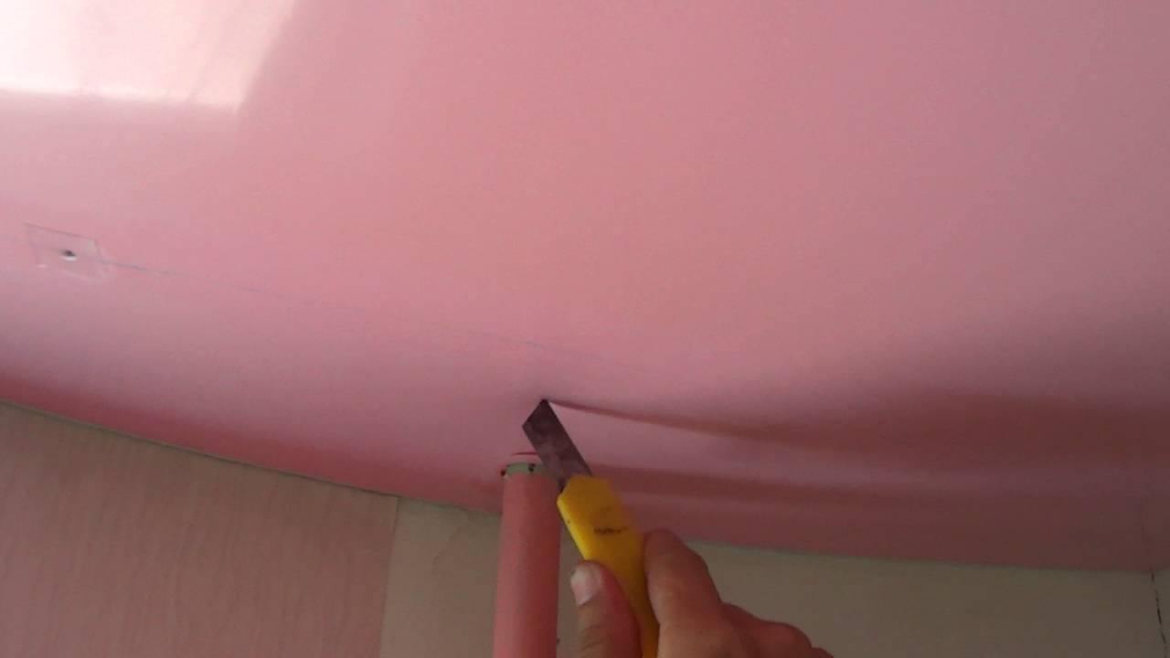 Как частично снять натяжной потолок своими руками