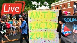 LIVE: Boston Free Speech Rally 30k expected Antifa Black Lives matter