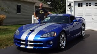 2006 Dodge Viper SRT 10 Coupe in Blue with Engine Start Up & Ride on My Car Story with Lou Costabile