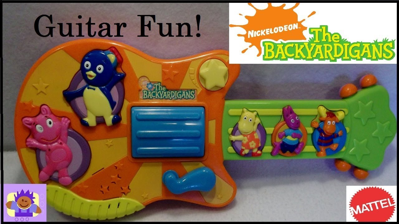 2006 Nick Jr. The Backyardigans Musical Toy Guitar By Mattel - YouTube