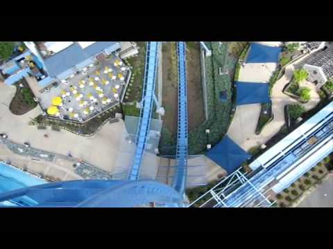 Griffon Front Row Seat on-ride widescreen POV Busch Gardens Williamsburg