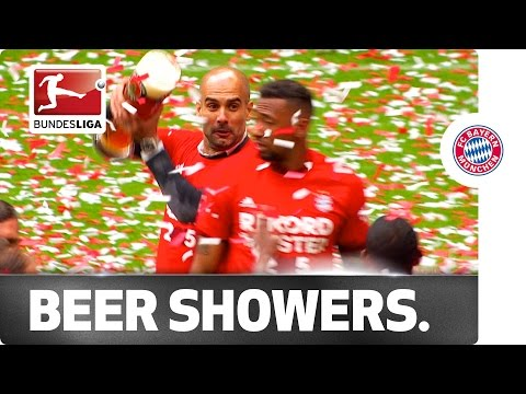 """Meisterschale"" and Beer Showers - Bayern Celebrate the Bundesliga Title"