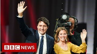 Canada election Justin Trudeau gives victory speech - BBC News