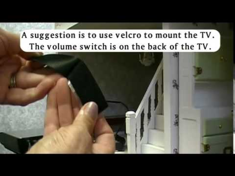 How to Install a Working TV in a Dollhouse