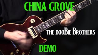 "DEMO | how to play ""China Grove"" on guitar by the Doobie Brothers 