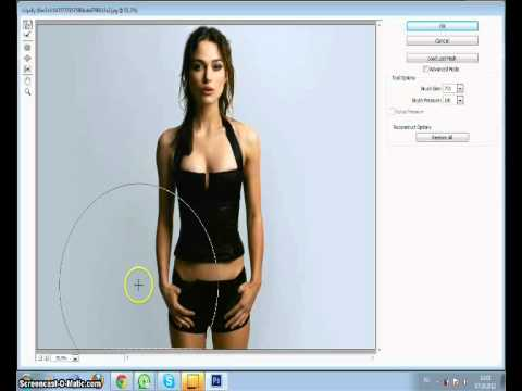 как в фотошопе похудеть человека видео