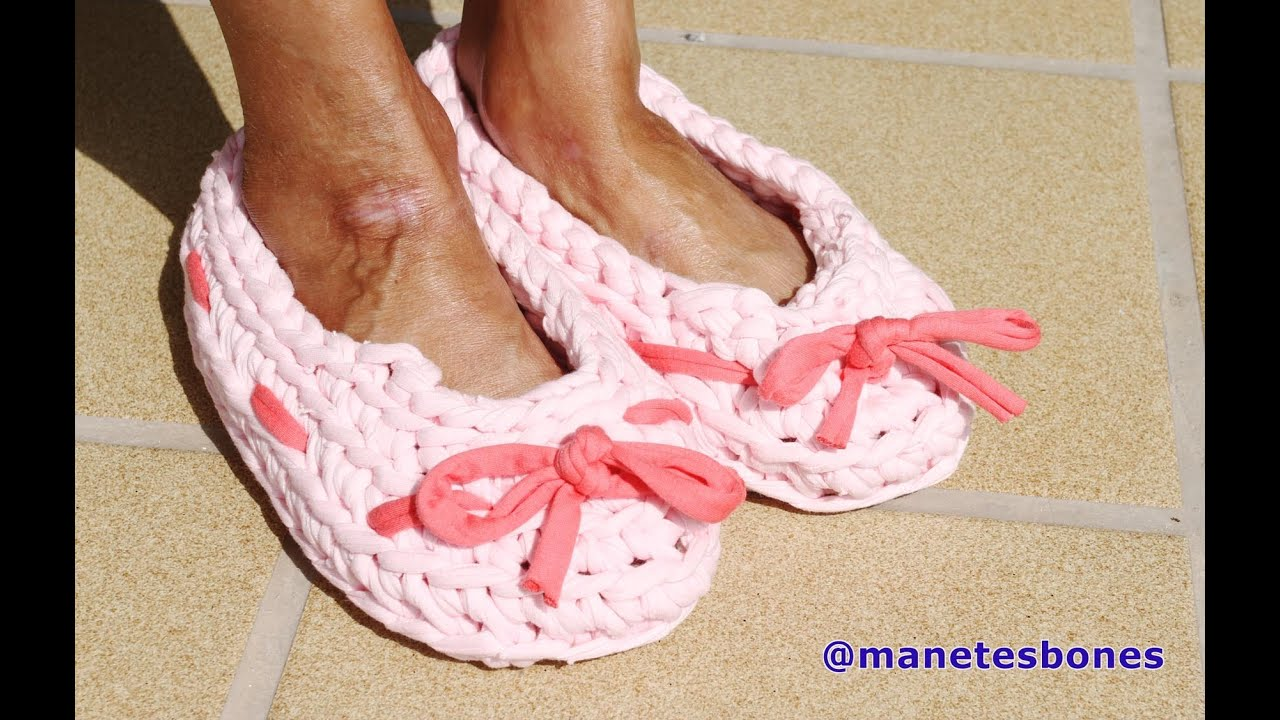 Tutorial Crochet Xxl : ... hacer zapatillas con trapillo Tutorial DIY Crochet XXL - YouTube