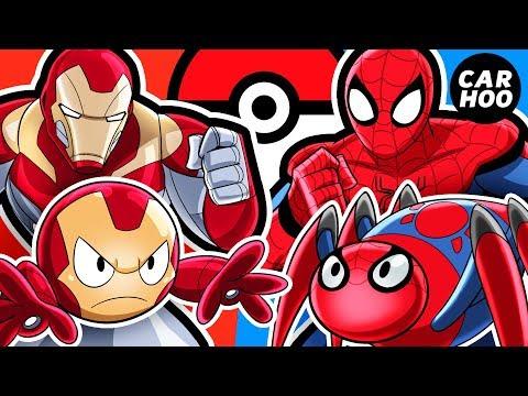 What If Iron Man & Spider-man Were Pokémon Trainers 【 MARVEL Superheroes Parody 】