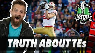 Fantasy Football 2019 - The TRUTH About Fantasy TEs in 2018 + Super Bowl Reaction - Ep. #689