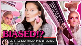 Tati's BIASED Jeffree Star X Morphe Brushes Review!?