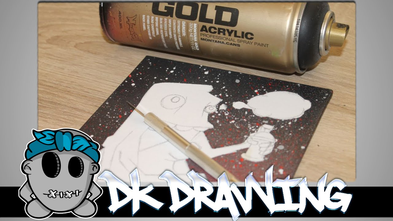 graffiti tutorial for beginners how to spray a backgorund on canvas. Black Bedroom Furniture Sets. Home Design Ideas