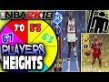 SPIN THE WHEEL OF HEIGHTS! NBA 2K18 MYTEAM -