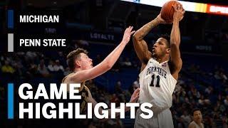 Highlights: Michigan at Penn State | Big Ten Basketball