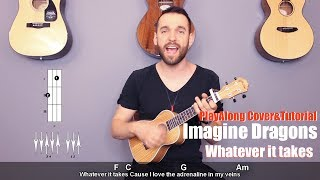 Download Lagu Imagine Dragons - Whatever It Takes (ukulele cover with lyrics and chords) Gratis STAFABAND