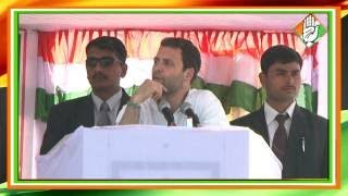 Congress Vice President Rahul Gandhis Address at a Public Rally at Dharmanagar