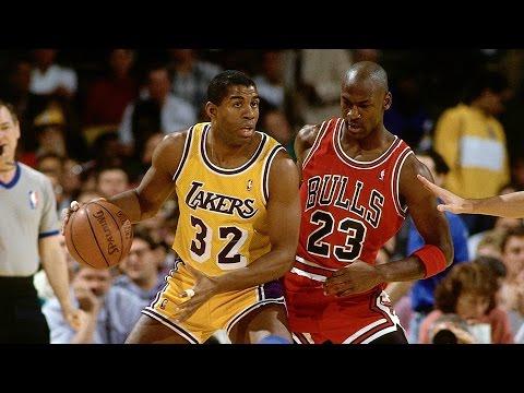 Magic Johnson schools Michael Jordan in the post (1991 Finals)