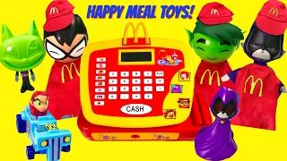 FULL SET of Teen Titans GO! Happy Meal Toys! Beast Boy Robin Work Register
