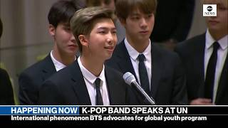 K-Pop group BTS addresses UN General Assembly | ABC News