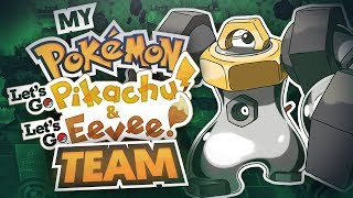 My Pokemon Let's Go Pikachu and Let's Go Eevee Team