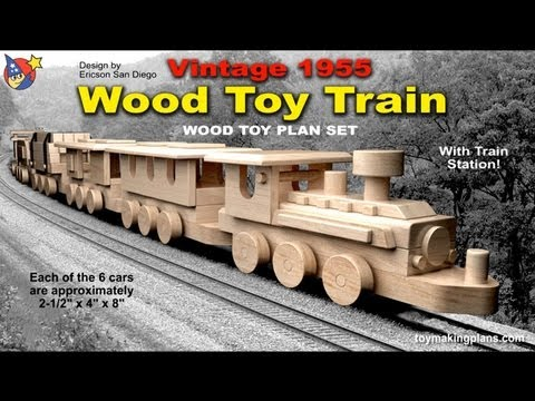 Wood Toy Plans - Vintage 1955 Wood Toy Train - YouTube
