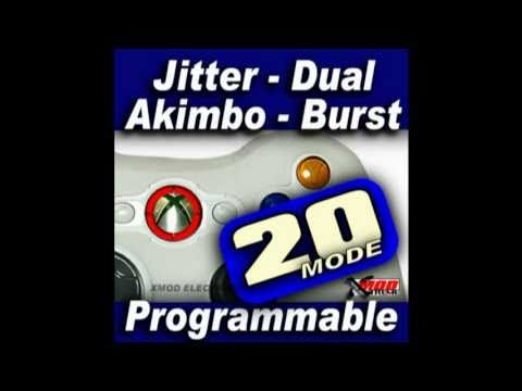JITTER XBOX 360 MODDED CONTROLLER - XMOD Rapid Fire MOD CHIP. XBOX 360.XBOX ONE.PS3.PS4.modchip
