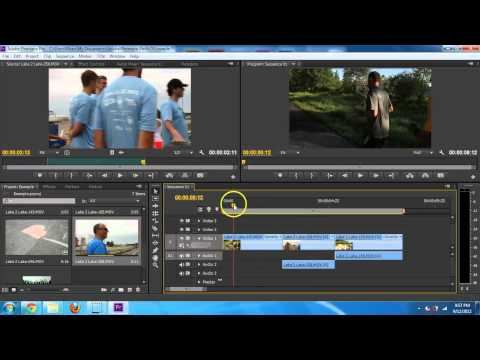 Adobe Premiere CS6 - Basic Editing Introduction Tutorial