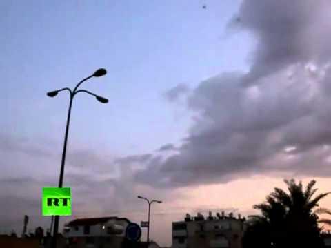 Video insólito: El sistema israelí  'Cúpula de Hierro' intercepta los misiles de Hamás