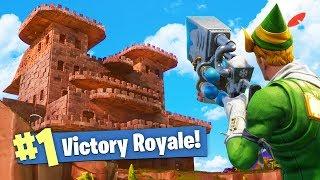 BUILDING AN EPIC CASTLE in Fortnite: Battle Royale!