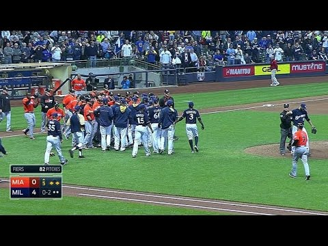 Benches clear after Johnson strikes out
