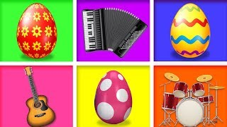 Surprise Eggs Toys for Kids teach Musical instruments | Educational Videos by BabyFirst