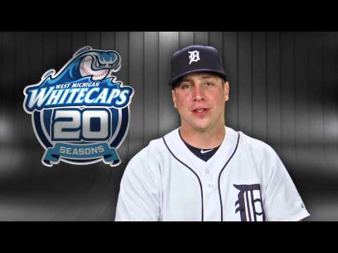 Andy Dirks congratulates the Whitecaps on 20 Seasons