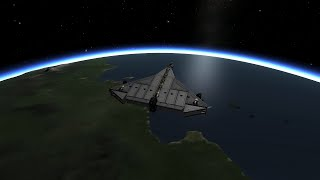 KSP Space Orbit Without Rockets (hypersonic SSTO)