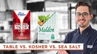 What's the Difference Between Kosher Salt, Table Salt, and Sea Salt?