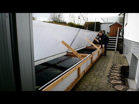Modern Koi Blog #1471 - Arturs 1.000 Euro Teichabdeckung aus Doppelstegplatten