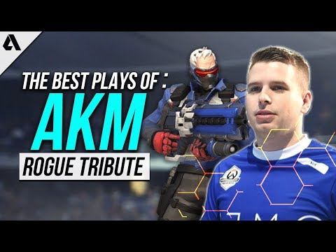 Overwatch Gameplay | Rogue aKm Tribute - The Best Plays Highlights ft Soldier: 76 McCree |  Esports